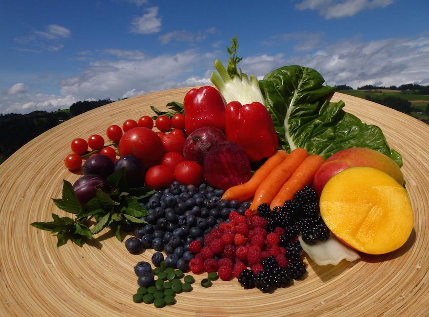 Sonnenschutz von innen; Melanin-Früchte