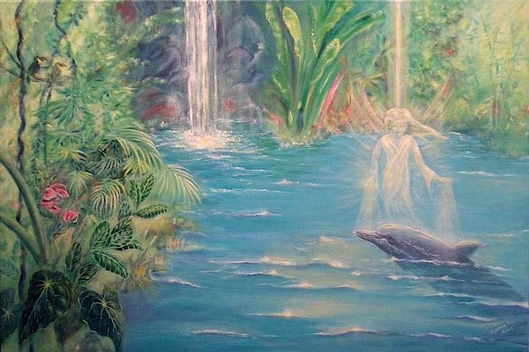 Lichtwesen heilt Delphin